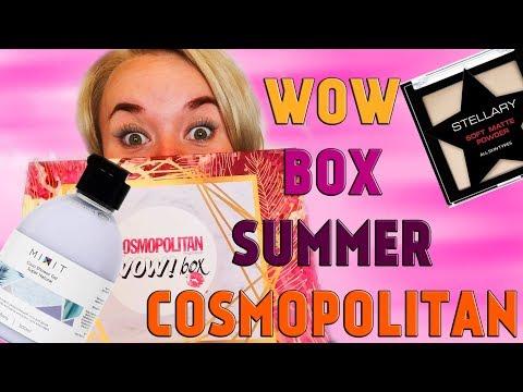 "Обзор бьюти бокса  ""Cosmopolitan WOWBOX  SUMMER"" (Космополитан, бьюти бокс)."