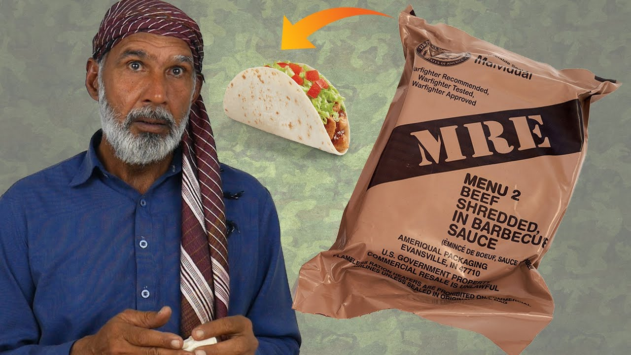 Tribal People Try Military MRE for the First Time