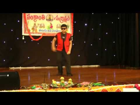 Krishna Somisetty's dance for You rock my world from Arya