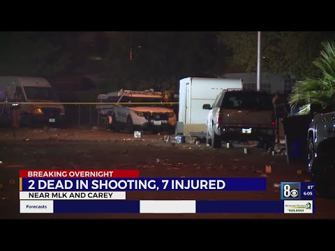 Two dead, 7 others injured in North Las Vegas shootings
