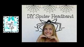 Craft Life ~ DIY Funny Spider Headband Tutorial for Halloween