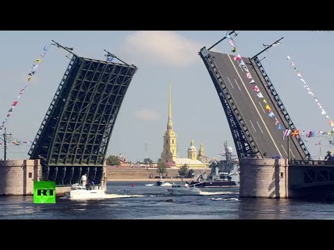 Navy Day parade in St. Petersburg (streamed live)