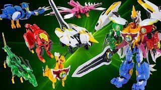 God Beast King 4 All Megazord 6 In 1 Lion Unicorn Kirin Phoenix Kunpeng Dragon Toy Transformation