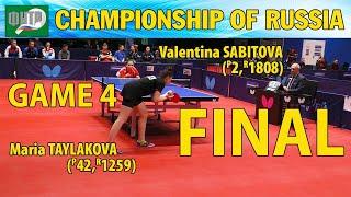 ЧЕМПИОНАТ РОССИИ 2020 Мария ТАЙЛАКОВА - Валентина САБИТОВА #tabletennis #настольныйтеннис