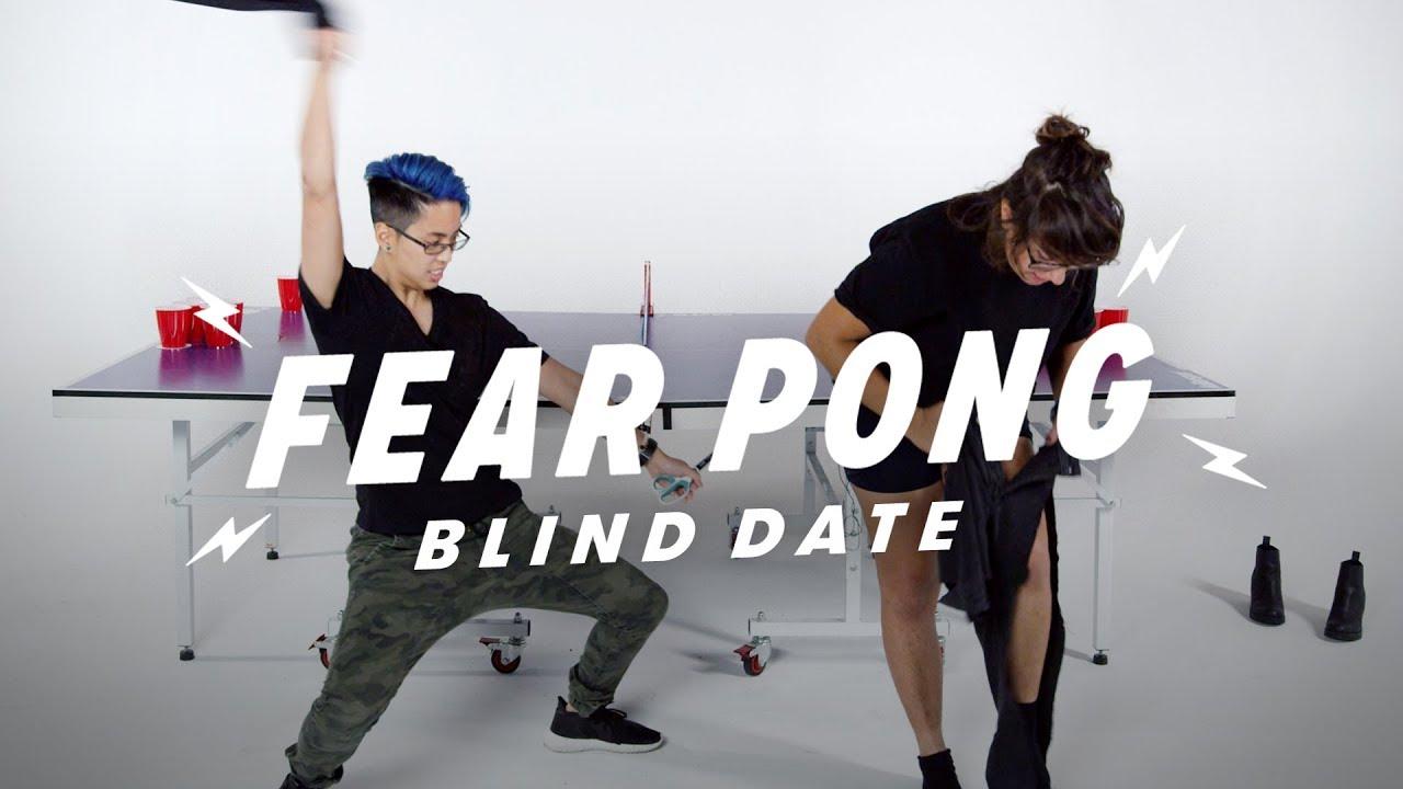 Blind Dates Play Fear Pong (Gina vs. Mic)   Fear Pong   Cut