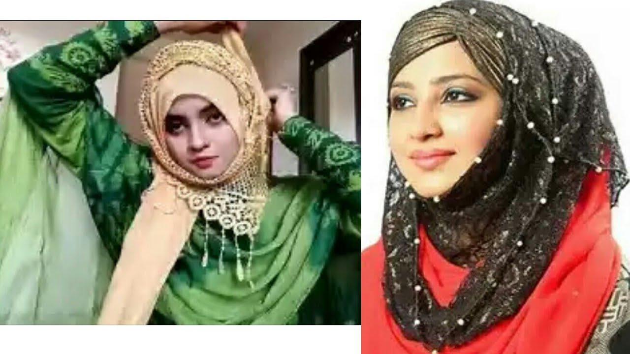 Pakistani hijab fashion //new design pakistani hijab