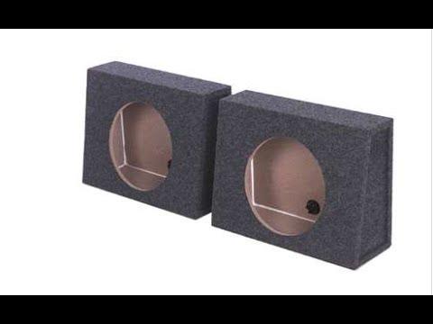 Q Power Single 12 Inch Sealed Subwoofer Box Enclosures