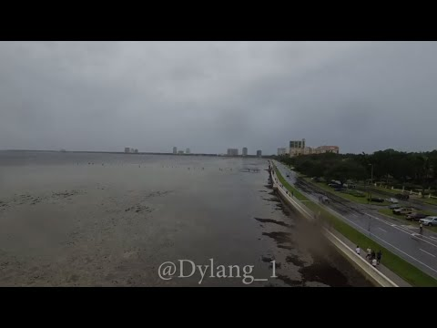 Raw: Drone Video Shows An Empty Bay in Tampa