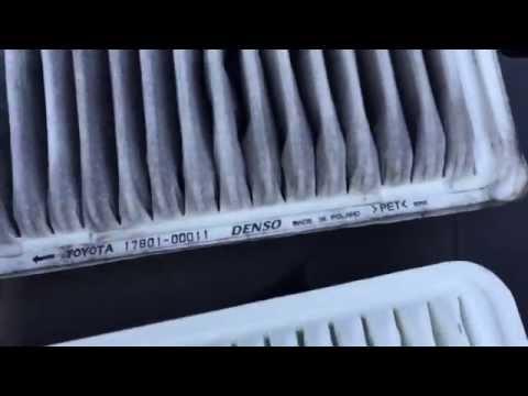 Замена воздушного фильтра Toyota Avensis. Replacement air filter