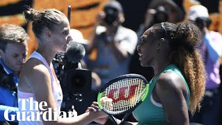 'She played her best tennis ever': Serena Williams on loss to Karolina Pliskova