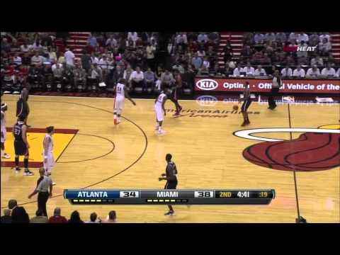 Joel Anthony dunks on 3 Hawks (HD)