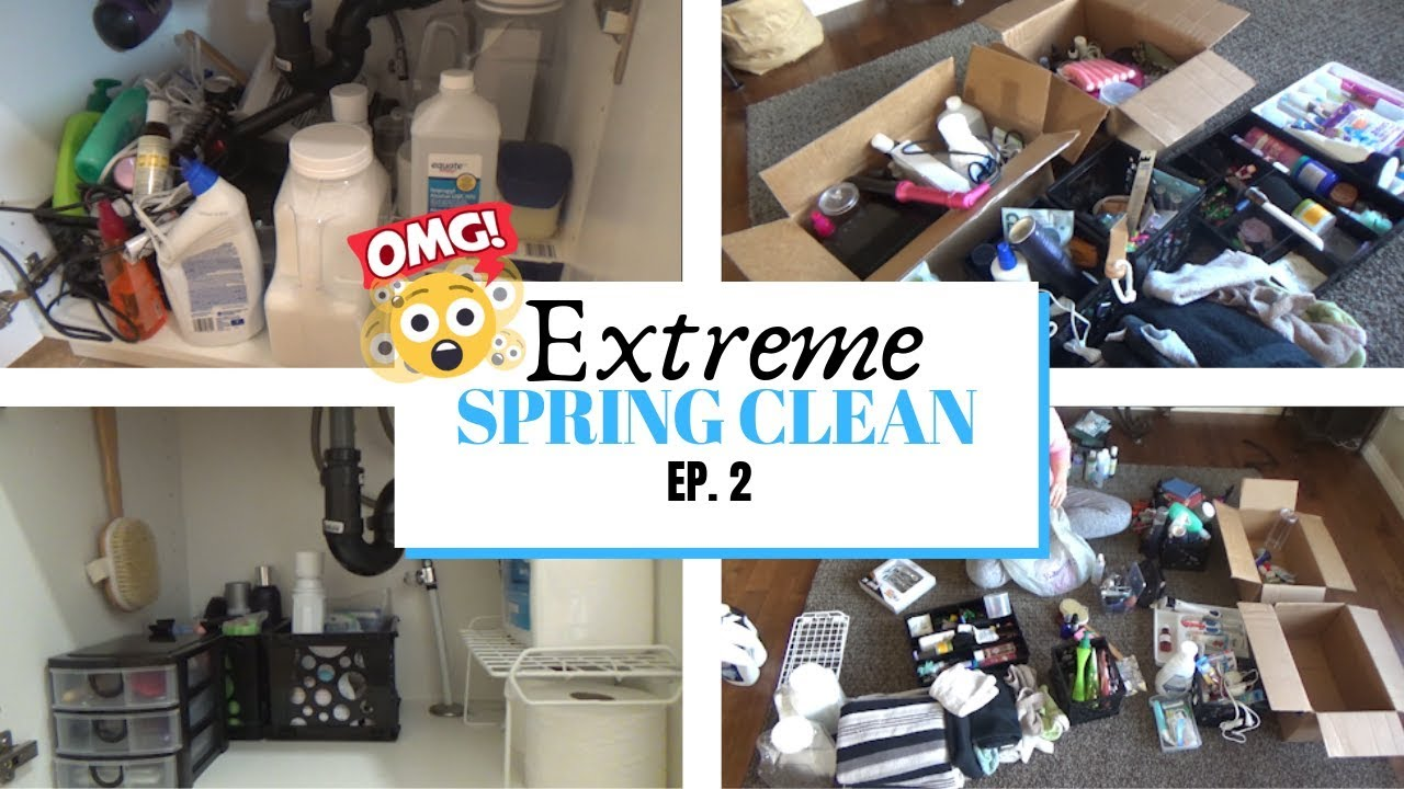 Spring Clean With Me 2019 Bathroom Deep Clean Extreme Clean With Me Cleaning Motivation 2019