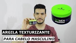 Argila Texturizante 3D Men Texture Clay Schwarzkopf - Review | Penteado Masculino Passo a Passo