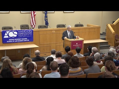 "Julian Bond: ""The Broken Promise of Brown"" Harris Lecture at Indiana Maurer School of Law"