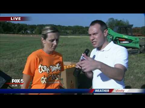 Corn maze in Loganville salue to 'back the blue'