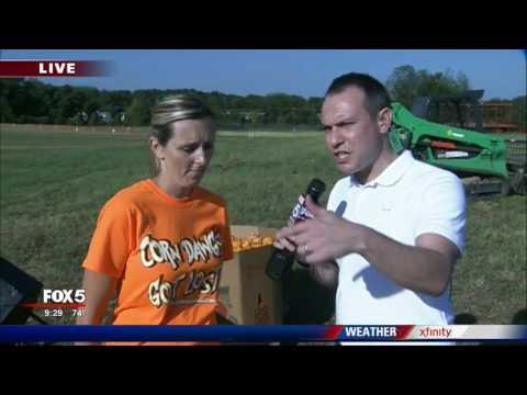 Corn maze in Loganville salue to 'back the blue'