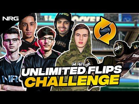 NRG Rocket League Pros Play with Unlimited Flips (Challenge)   musty, jstn, GarrettG, Squishy, Sizz