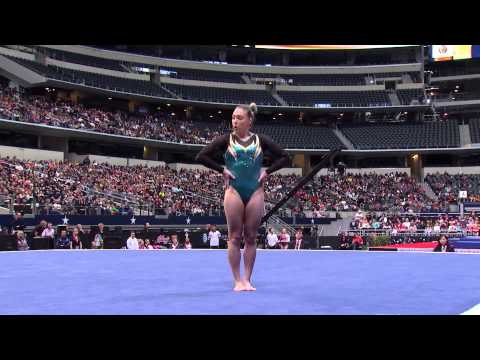 Emily Little - Floor Exercise - 2015 AT&T American Cup - NBC