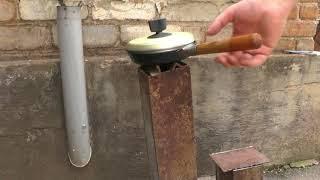 """Копия видео """"Ракетная печь, реактивная - Rocket stove. Для дачи и пикников на улице"""""""