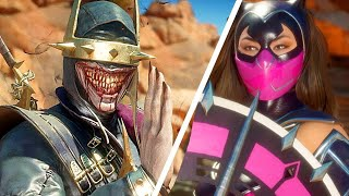 Mortal Kombat 11 Catwoman Skin Vs Batman Who Laughs Skin Gameplay Very Hard Difficulty MK11