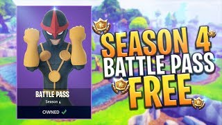 *NEW* FREE SEASON 4 BATTLE PASS RELEASE V-BUCKS GIVEAWAY - Fortnite: Battle Royale