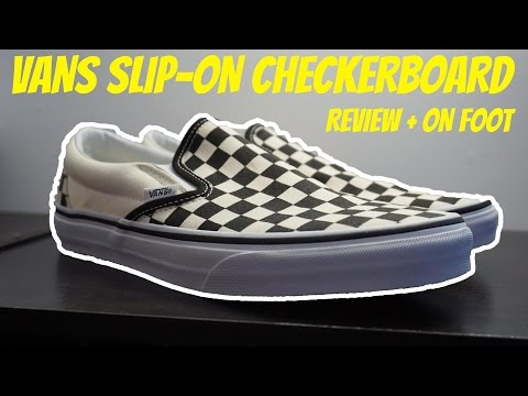 VANS CHECKERBOARD SLIP-ON! (Review + On Feet)