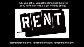 Rent - Seasons Of Love (Karaoke)
