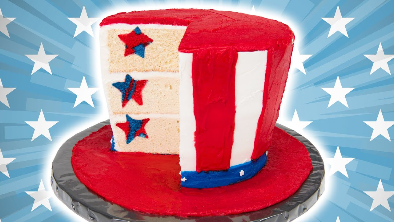 How To Make An American Flag Hat Cake For The 4th Of July Youtube