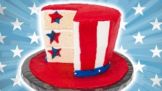 How to Make an American Flag Hat Cake for the 4th of July