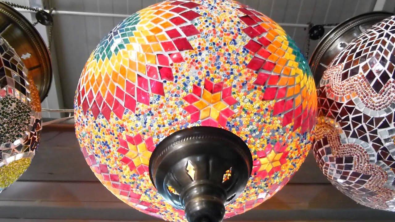 9259 Lamparas colgantes de vidrios coloridos naranja detalles Raw