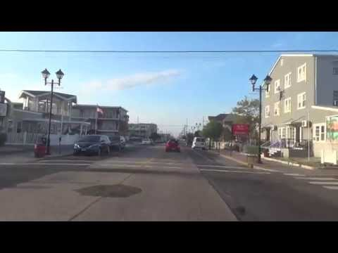 DRIVE THROUGH SEASIDE HEIGHTS (OCEAN AVE) - NJ New Jersey Shore Ocean Beach View Travel Guide