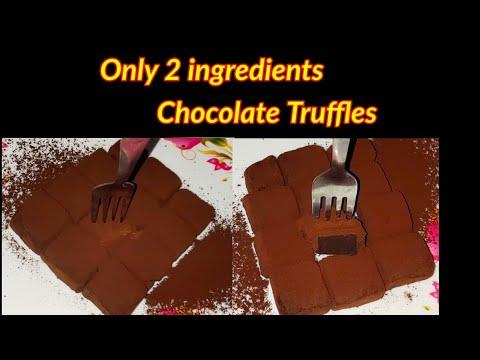 2 ingredients chocolate truffles recipe // Condensed Milk ...