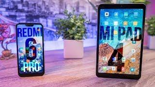 Xiaomi Redmi 6 PRO и Xiaomi Mi Pad 4 - знакомство с планшетом и новым смартфоном