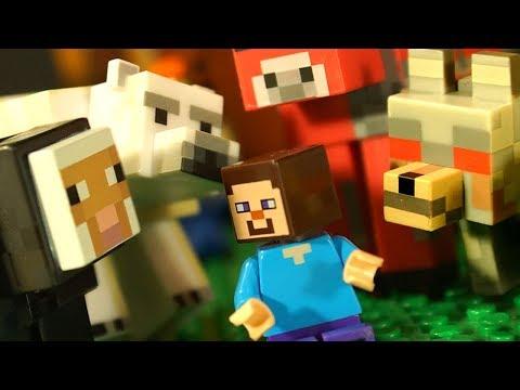 Майнкрафт ИГРУШКИ vs LEGO Minecraft и Лего НУБик Мультики Анимация Видео для Детей