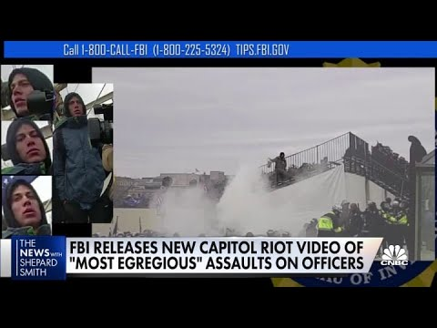 FBI releases new Capitol Riot video of 'most egregious' assaults on officers