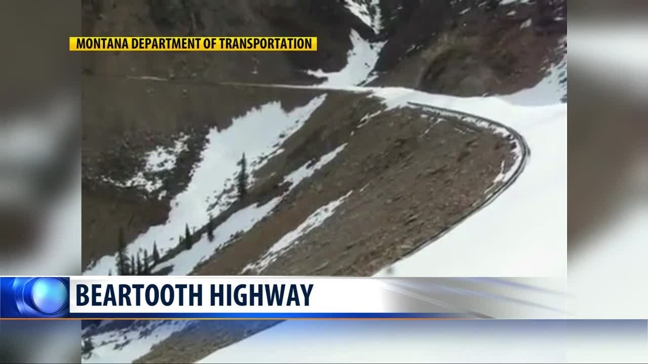 Snow plows powering ahead on two iconic Montana highways