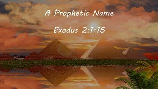 Moses: Faith for the Journey / A Prophetic Name / Exodus 2:1-15
