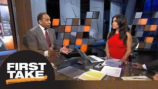 Molly challenges Stephen A.'s take on NFL protests impacting TV ratings | First Take | ESPN