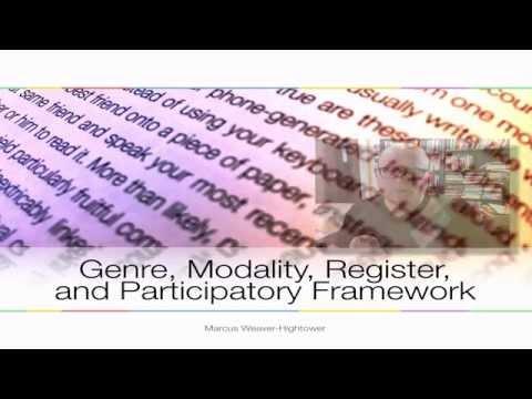 Discourse Analysis-Genre, Modality, Register & Participants