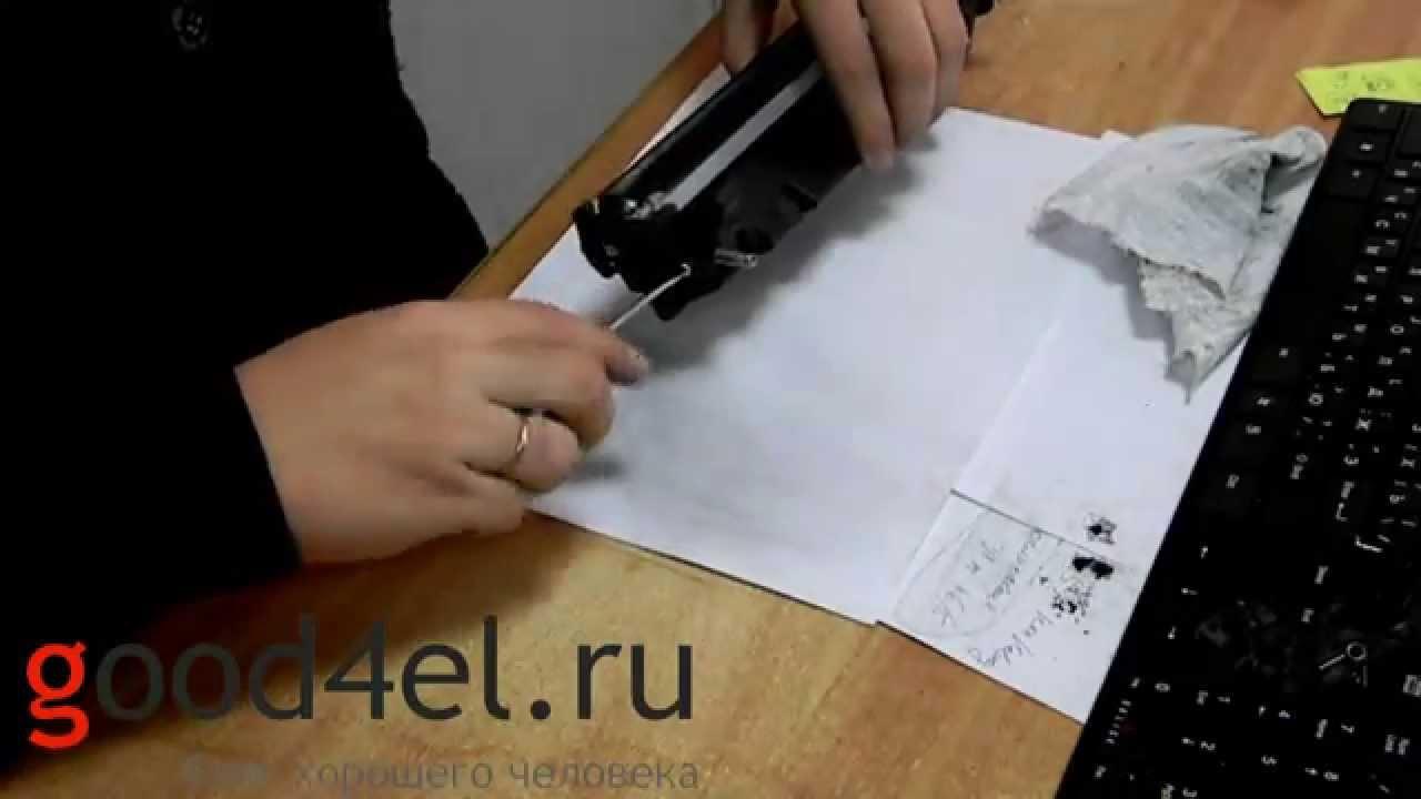 инструкция по заправке картриджа crg