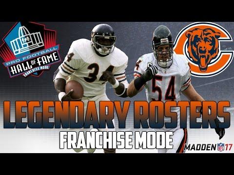 Legendary Chicago Bears Roster | Madden 17 Connected Franchise | Walter Payton + Dick Butkus