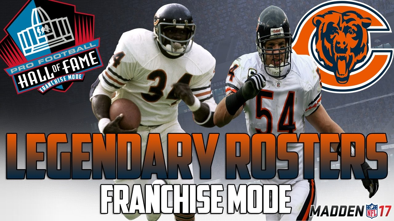 Legendary chicago bears roster madden 17 connected franchise walter payton dick butkus - Walter payton madden 15 ...
