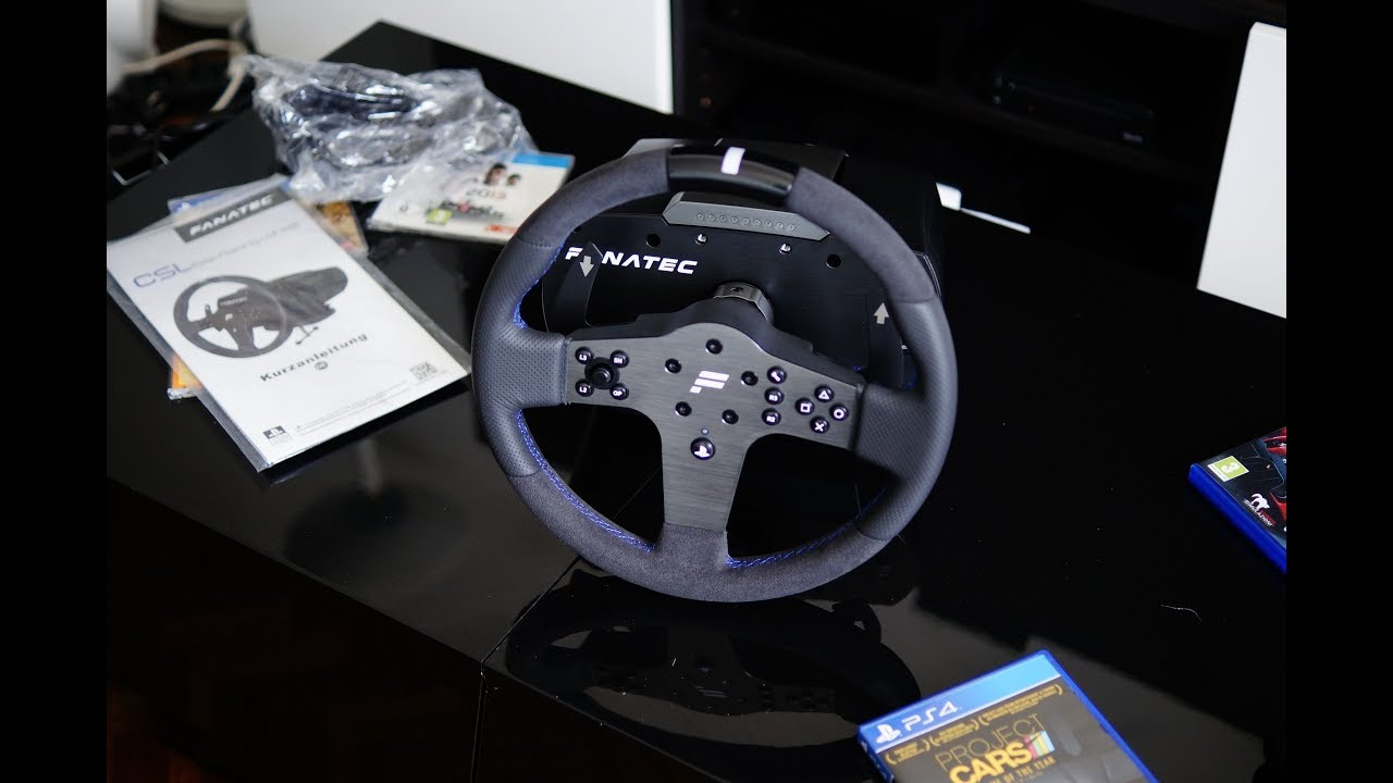 test review volant fanatec csl elite racing wheel ps4. Black Bedroom Furniture Sets. Home Design Ideas