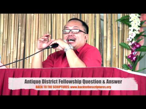 ANTIQUE SA2SA DISTRICT YEAR END FEDERATION: QUESTION & ANSWER!