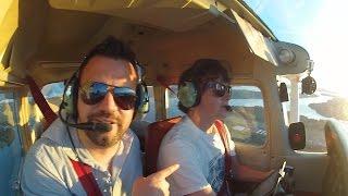First Flight as Private Pilot in a Cessna 172 (KTIW-KRNT)