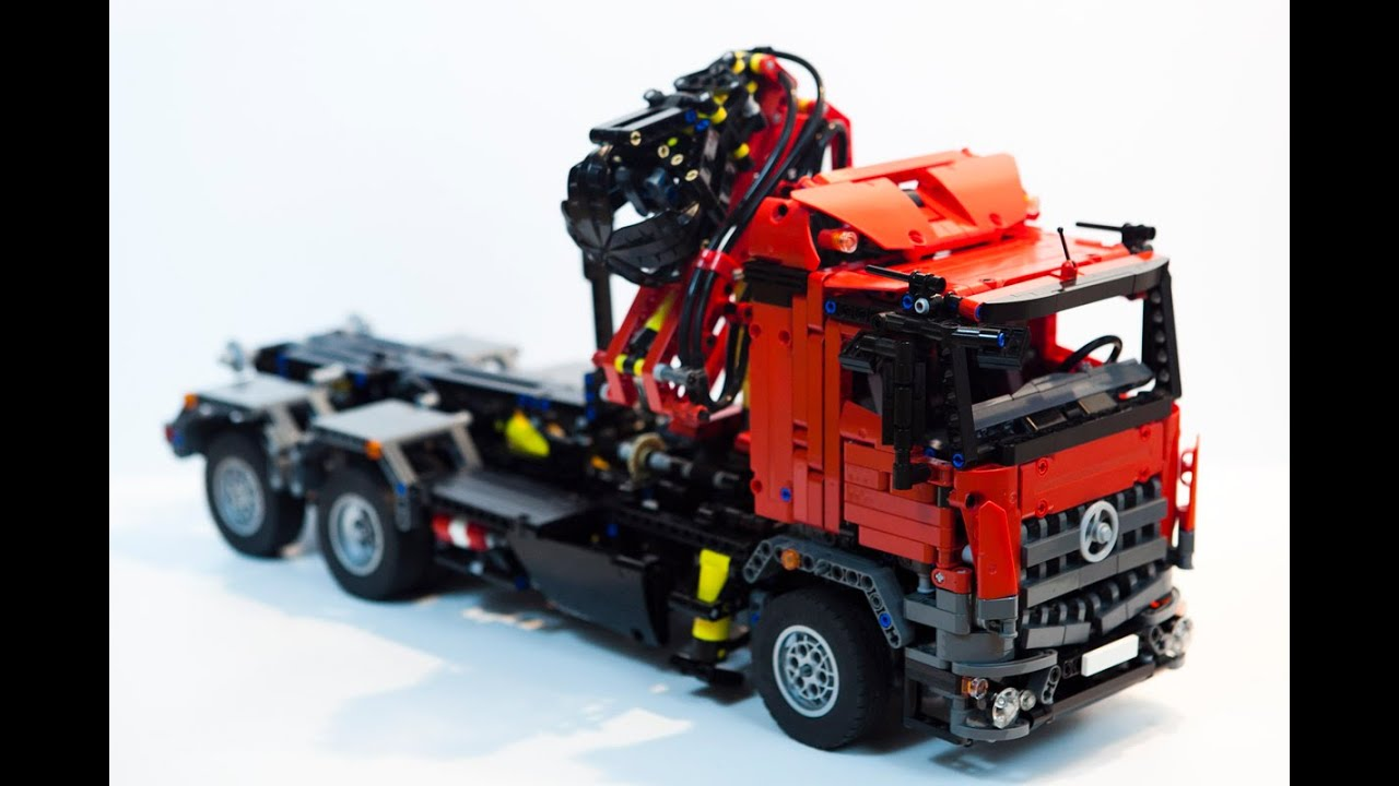 lego technic mercedes arocs hook lift youtube. Black Bedroom Furniture Sets. Home Design Ideas