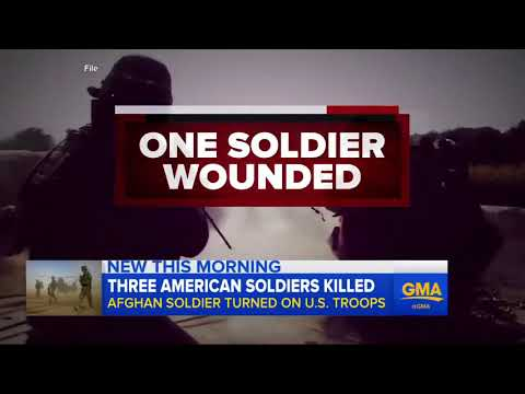 3 US soldiers killed, 1 wounded in insider attack in Nangarhar Afghanistan