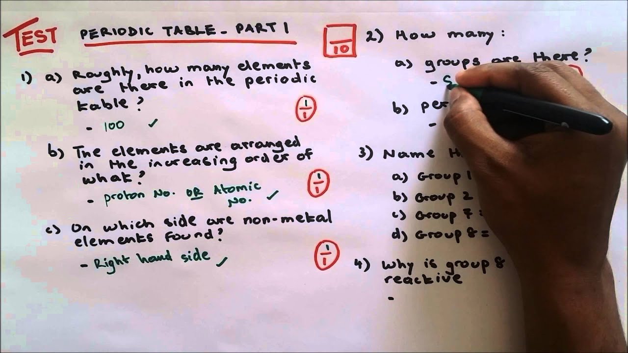 Periodic table part 1 test and revision youtube periodic table part 1 test and revision urtaz Image collections