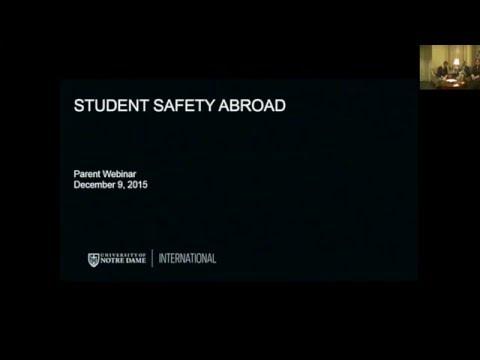 ND Parent Student Safety Abroad Webinar