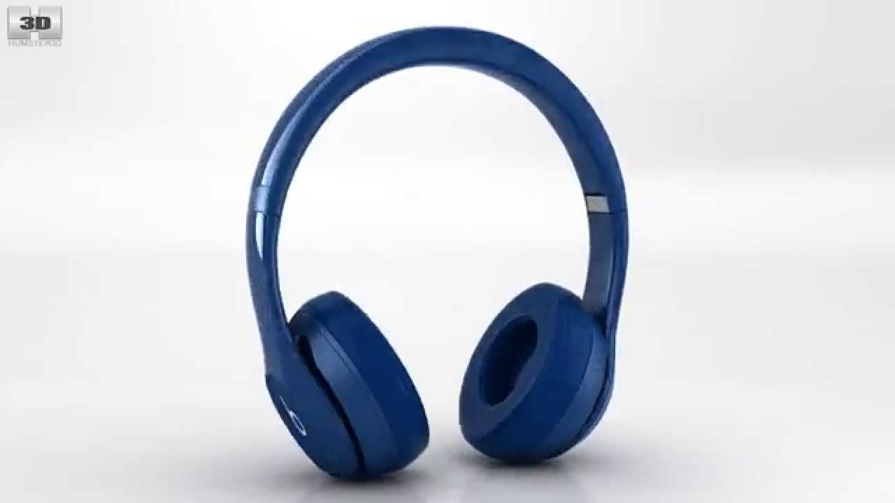 c7e256dd189 Beats by Dr. Dre Solo2 Wireless Headphones Blue by 3D model store  Humster3D.com - YouTube